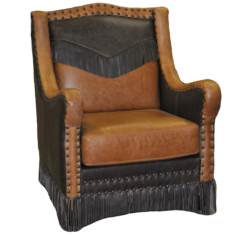 ALEJANDRA CHAIR- FRONT VIEW- Color: Fargo Whiskey/ Stone