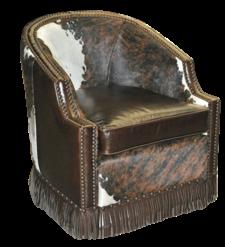 Houston Chair- FRONT VIEW- .. Color: Cheyenne Espresso/ HOH Tri Color