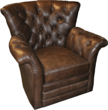 Kelly Chair- FRONT VIEW-... Color: Vintage Leather