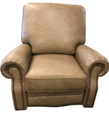 Rockford Recliner- FRONT VIEW- LEATHER