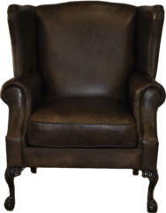 Truman Chair--FRONT VIEW--... Color: Leather
