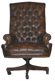 Waller Executive Chair- FRONT VIEW- ...Color: Leather
